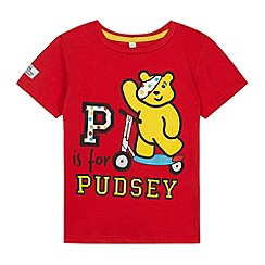 BBC Children In Need - Boy's red 'P is for Pudsey' t-shirt