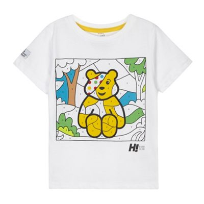 BBC Children In Need Designer boy´s white paint by numbers Pudsey t-shirt - . -