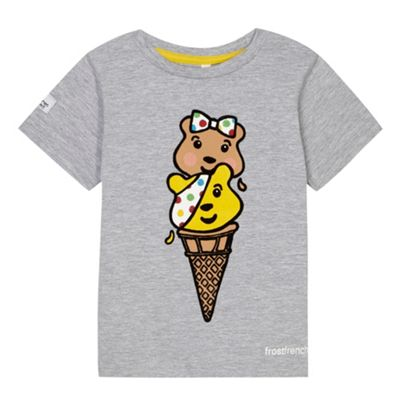 BBC Children In Need Girl´s grey ´Pudsey´ ice cream print t-shirt - . -