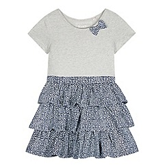 bluezoo - Girl's grey printed skirt dress