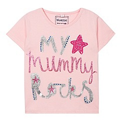 bluezoo - Girl's pink 'My Mummy Rocks' t-shirt