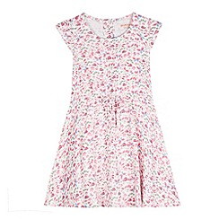 bluezoo - Girl's pink butterflies and ladybirds tea dress