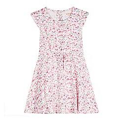 bluezoo - Girl's pink butterflies and ladybirds tea dress