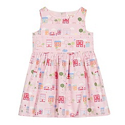 bluezoo - Girl's pink house print dress
