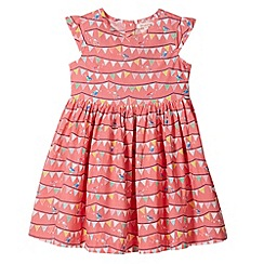 bluezoo - Girl's orange bunting tea dress