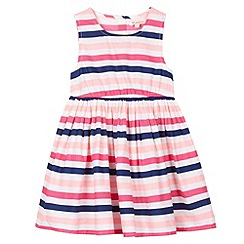 bluezoo - Girl's pink striped dress