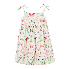 bluezoo - Girl's off white insects print summer dress