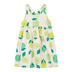 bluezoo - Girl's light pink apples and pears dress