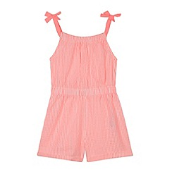 bluezoo - Girl's bright pink striped playsuit