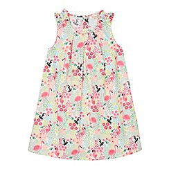 bluezoo - Girl's pink tropical print dress
