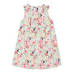 bluezoo - Girl's pink tropical print dress