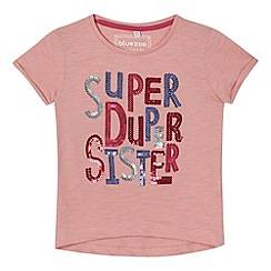 bluezoo - Girl's pink 'Super Sister' t-shirt