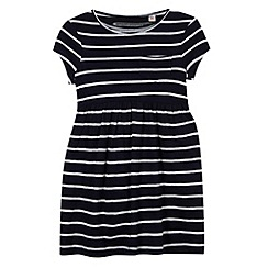 bluezoo - Girl's navy striped jersey dress