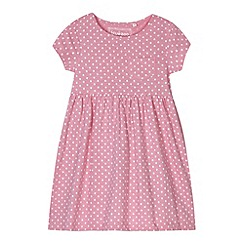 bluezoo - Girl's pink spotted jersey dress