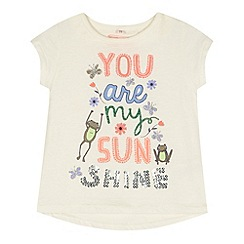 bluezoo - Girl's white 'Sunshine' t-shirt