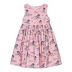 bluezoo - Girl's pink picnic girl print dress