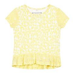 bluezoo - Girl's yellow peplum top
