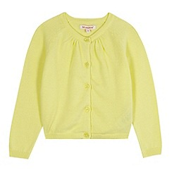 bluezoo - Girl's yellow knitted cardigan