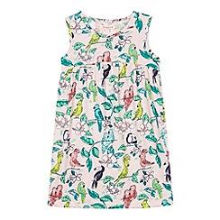 bluezoo - Girl's light pink tropical print dress