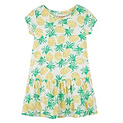 bluezoo - Girl's white pineapple print dress