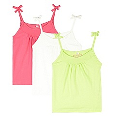 bluezoo - Girl's pack of three cream vests