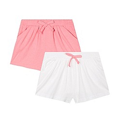 bluezoo - Pack of two girl's pink shorts