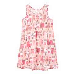 bluezoo - Girl's pink lollies print dress