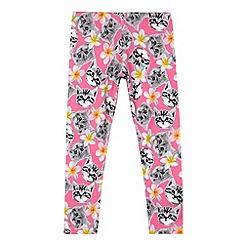 bluezoo - Girl's pink digital kitten print leggings