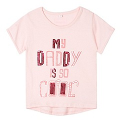 bluezoo - Girl's light pink 'My Daddy's Cool' t-shirt