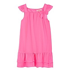 bluezoo - Girl's pink tiered bow dress