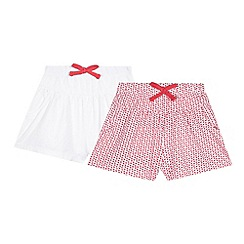 bluezoo - Pack of two girl's white print cullottes