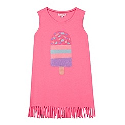 bluezoo - Girl's pink fringed lolly dress