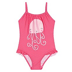 bluezoo - Girl's pink spotted jellyfish swimsuit