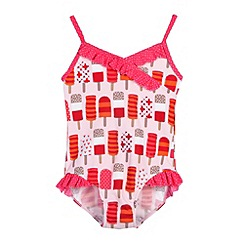 bluezoo - Girl's neon pink lolly swimsuit