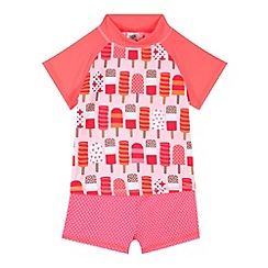 bluezoo - Girl's pink ice lolly two piece rash set