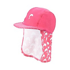 bluezoo - Girl's pink dolphin hat