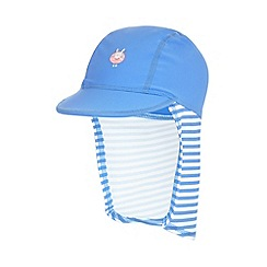 bluezoo - Girl's blue bunny sunsafe hat
