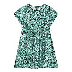 J by Jasper Conran - Designer girl's green ditsy floral and hearts dress