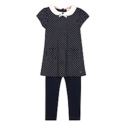 J by Jasper Conran - Designer girl's navy spotted tunic and leggings set