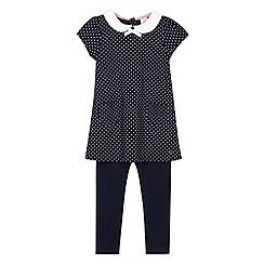 J by Jasper Conran - Designer girl's navy spotted tunic and leggings set