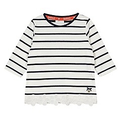 J by Jasper Conran - Designer girl's cream striped top