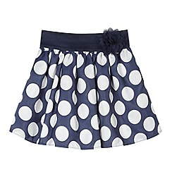 J by Jasper Conran - Designer girl's navy spotted skirt