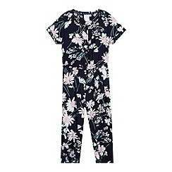 J by Jasper Conran - Designer girl's navy flower jumpsuit