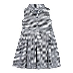 J by Jasper Conran - Designer girl's blue spotted shirt dress