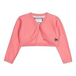 J by Jasper Conran - Designer girl's pink textured knit cardigan
