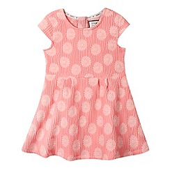 J by Jasper Conran - Designer girl's pink textured daisy dress