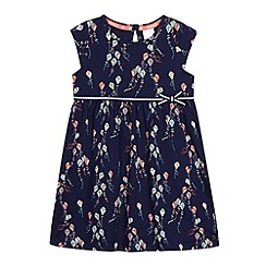 J by Jasper Conran - Designer girl's navy kite printed jersey dress
