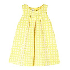 J by Jasper Conran - Designer girl's yellow textured pleat dress