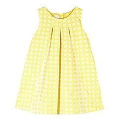 J by Jasper Conran - Designer girl's yellow textured pleat dress