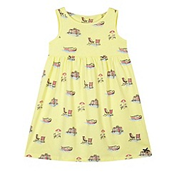 J by Jasper Conran - Designer girl's yellow boat print jersey dress